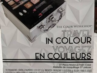 Travel in color 27pc makeup train case
