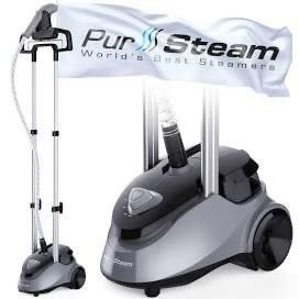 PurSteam Garment Steamer Professional Heavy Duty Industry leading 2 5 liter  85 fl oz  Water Tank  60 min of Continuous Steam with 4 level Steam Adjustment