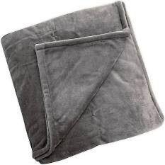 BrookstoneAr n a pAr Plush Heated king Blanket in Grey