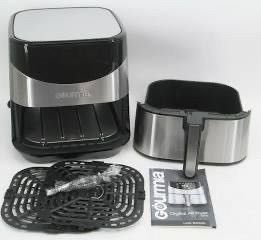 Gourmia GAF685 6 Qt  Capacity Aero Crisp Stainless Steel Digital Air Fryer