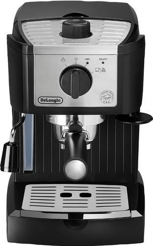 De longhi   Espresso Machine with 15 bars of pressure and Milk Frother   Black