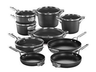 Calphalon Premier Space Saving Nonstick 15 Piece Cookware Set  A COUPlE OF PANS ARE DENTED  RETAIl  649 99
