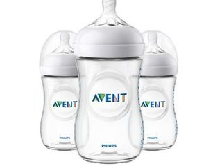 Philips Avent Natural 3pk Baby Bottle 9oz   Clear