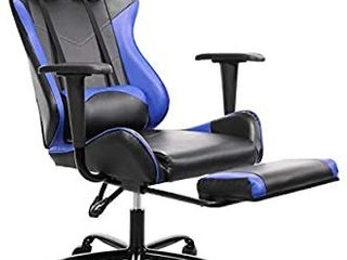 SMUGDESK Gaming Chair with Footrest Ergonomic Office Chair High Back Computer Office Racing Chair Headrest Swivel Rocking Desk Chair