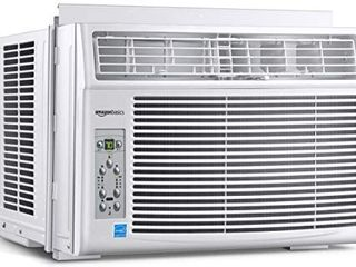 Amazon Basics Window Mounted Air Conditioner with Remote   Cools 250 Square Feet  6000 BTU  Energy Star