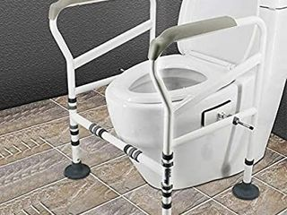 HePesTer Foldable Free Assembly Toilet Safety Frame for Elderly with Adjustable Height  330 Ib