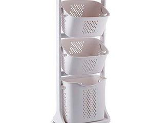 bretoes laundry Basket Bathroom Multi layer Clothes Storage Basket