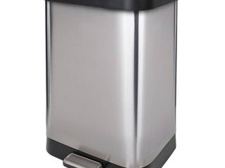 GlAD Stainless Steel Step Trash Can Fits 13 Gallon Bags