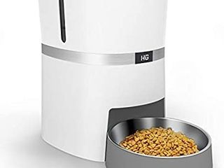 HoneyGuaridan Automatic Pet Feeder  Dogs  Cats  Rabbit   Small Animals Food Dispenser with Stainless Steel Pet Food Bowl  Portion Control and Voice Recording
