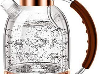ASCOT Electric Kettle Glass  KE10 Rose Gold