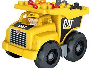 Mega Bloks Cat large Dump Truck  yellow  DCJ86