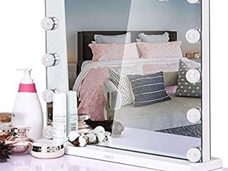 Vanity With lighted Mirrori1 4Makeup Mirror With lightsi1 4lager Desktop lighted Makeup Mirror With 14 Dimmable led Bulbs Touch Screen For Dressing Room Bedroom by YIMONTH