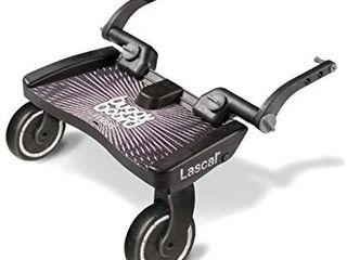 lascal BuggyBoard Maxi  Black  Universal Ride On Stroller Board  Fits More Strollers using The Patented Universal Adapter  Holds Up To 66 lbs  Adjusting Screws Color and Packaging May Vary
