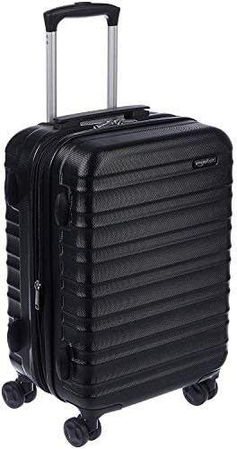 Amazon Basics Hardside Carry On Spinner Suitcase luggage   Expandable with Wheels   21 Inch  Black