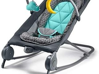 Summer 2 in 1 Bouncer   Rocker Duo   Baby Bouncer   Baby Rocker with Soothing Vibrations  Removable Toys   Compact Fold for Storage or Travel   Easy to Clean