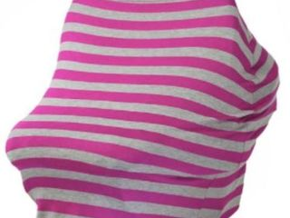 J You Baby Car Seat Cover Canopy  Nursing Cover  Shopping Cart Cover  Pink Grey