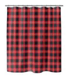 CHRISTMAS in PlAID Shower Curtain by Kavka Designs  Retail 75 98