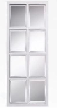 Porch   Den Cottonwood 8 pane Window Framed Wall Mirror   17x42  Retail 119 49