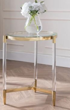 Silver Orchid Henderson Acrylic End Table  Retail 185 99