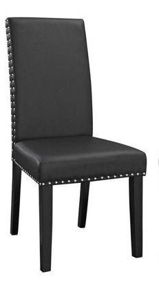Black  Parcel Dining Side Chair Vinyl  1 Chair  Retail 205 99