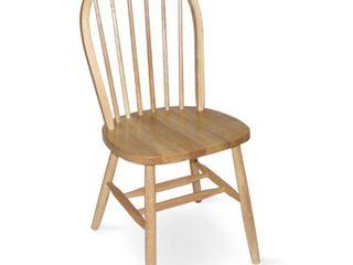 Windsor 37 inch High Spindleback Chair   Plain legs   Natural