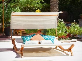 Marrakech Sunbed with Canopy by Christopher Knight Home  Retail 419 99