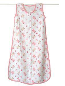 Aden   Anais Classic Muslin Sleeping Bag  Princess Posie  Small Retail 28 57