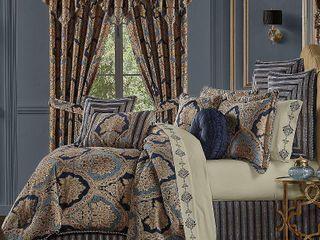 Queen J New York Bristol Queen 4 Piece Comforter Set Bedding