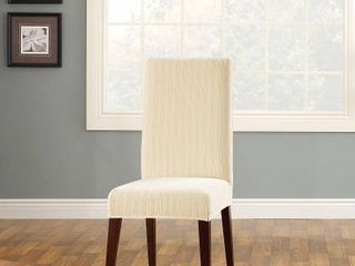 Sure Fit Stretch Pinstripe Short Dining Room Chair Slipcover  Set of 2