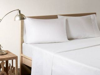 Sleep  Bamboo Cal King Sheet Set  White