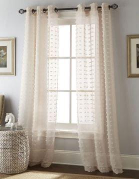 Sand  Nanshing Payton Solid Grommet Top  Curtain Panel Pair