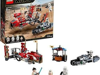 lEGO Star Wars  The Rise of Skywalker Pasaana Speeder Chase 75250 Hovering Transport Speeder Building Kit with Action Figures  MAY NOT BE COMPlETE