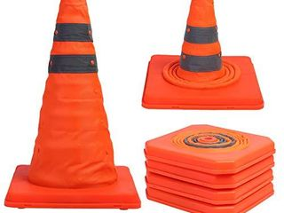 Sunnyglade 4 Pack 15 5 inch Collapsible Traffic Cones Multi Purpose Pop up Reflective Safety Cone  4