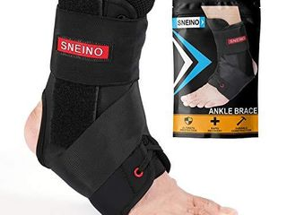 Ankle Brace for Women and Men   lace Up Adjustable Support Volleyball Ankle Braces Basketball Ankle Brace Ankle Support Ankle Brace for sprained Ankle Ankle Brace Stabilizer  X large
