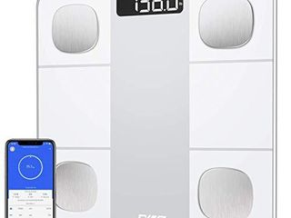 Body Fat Scale  Digital Scale for Body Weight  Bluetooth Bathroom Scale Tracks 14 Compositions  Smart Wireless BMI Scale Body Analyzer with Smartphone App  large lCD Backlit  396lb