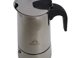 IMUSA USA B120 22062M Stainless Steel Stovetop Espresso Coffeemaker 6 Cup  Silver