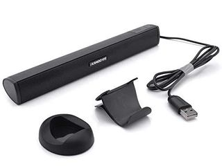 USB Powered Computer Stereo Speaker  Portable Mini Sound Bar for Windows PCs  Desktop Computer  laptop   Black