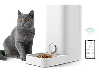 PETKIT Automatic Cat Puppy Feeder  App Control  10 Portions 10 Meal Plans per Day  low Food lED Indicator Pet Smart Feeder for Small Animals  Auto Pet Food Dispenser USED