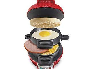 Hamilton Beach Breakfast Sandwich Maker  Red  25476