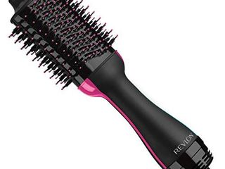 REVlON One Step Hair Dryer And Volumizer Hot Air Brush  Black  Packaging May Vary NOT INSPECTED