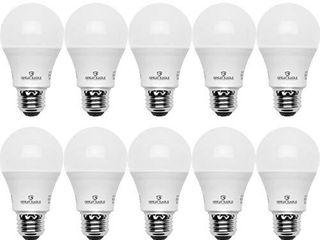 Great Eagle A19 lED light Bulb  6W  40W Equivalent  Ul listed  6000K  Daylight Plus  525 lumens  Non dimmable  Standard Replacement  4 Pack