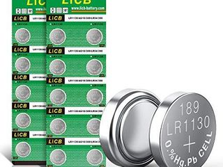 liCB 20 Pack lR1130 AG10 Battery 1 5V long lasting Alkaline Button Cell Batteries