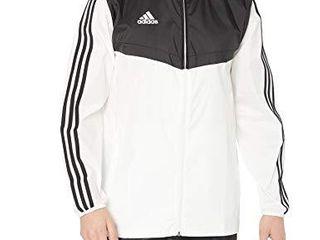 adidas Men s Tiro Windbreaker  White Black  X Small