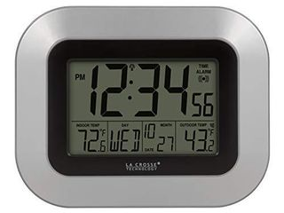 la Crosse Technology WS 8115U S INT Atomic Digital Wall Clock with Indoor and Outdoor Temperature