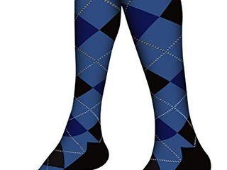 SB SOX Compression Socks  20 30mmHg  for Men   Women   Best Stockings for Running  Medical  Athletic  Edema  Diabetic  Varicose Veins  Travel  Pregnancy  Shin Splints  Dress   Blue Argyle  large