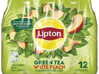 lipton lipton Green Tea White Peach 16 9oz 12pk  12 Count