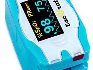 Children Digital Fingertip Pulse Oximeter Blood Oxygen Saturation Monitor with Adorable Animal Theme  not for Newborn Infant