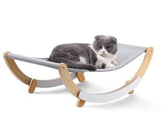 FUKUMARU Cat Hammock   New Moon Cat Swing Chair  Kitty Hammock Bed  Cat Furniture Gift for Your Small to Medium Size Cat or Toy Dog