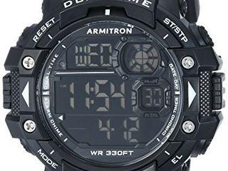 Armitron Sport Men s 40 8309BlK Digital Chronograph Black Resin Strap Watch