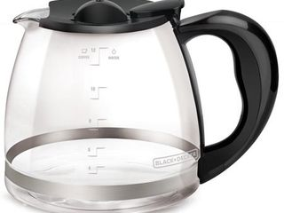 BlACK DECKER 12 Cup  Replacement Carafe  Glass  GC3000B T